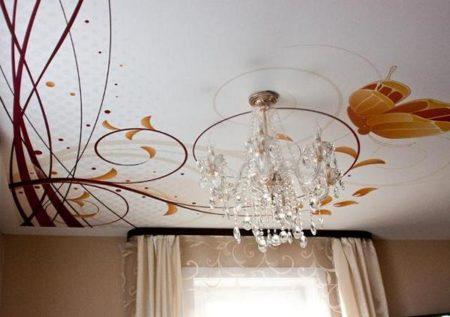 Сатиновый потолок с оригинальной фотопечатью