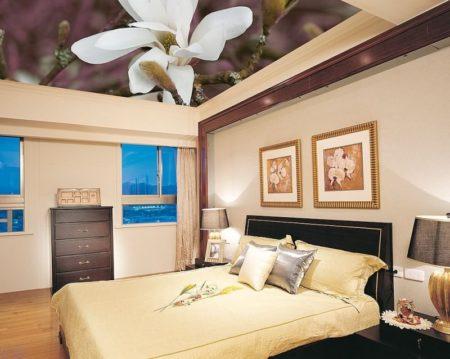 Тканевый натяжной потолок, как эффектный способ декорировать помещение