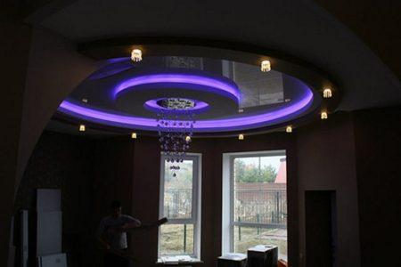 Интерьер с потолком в виде кольца