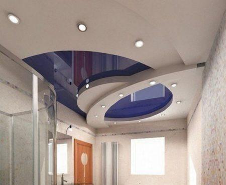 Оригинальный дизайн натяжного потолка