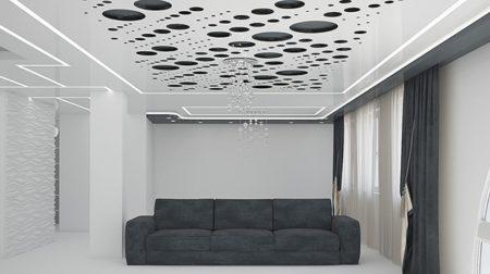 Декоративные отверстия в натяжном потолке, фото