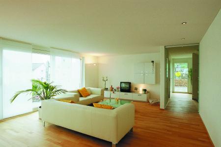 Уменьшение высоты комнаты на примере гостиной
