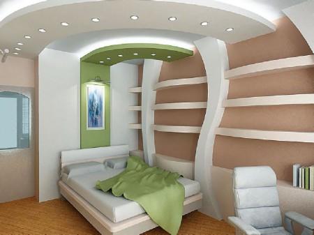 Неординарный дизайн в комнате площадью 12 кв м