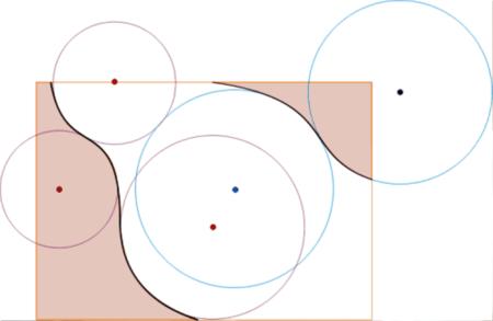 Работа в графическом редакторе, материал второго яруса гипсокартон, разметка по окружности