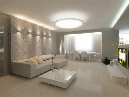 Оформление помещения в светлых тонах