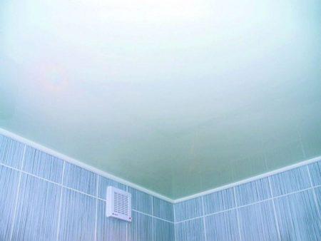 Фото ванной с окрашенным потолком