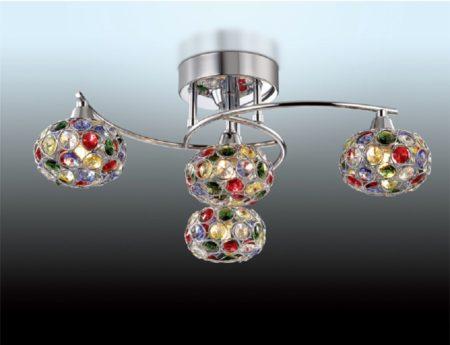 Споты подвесного типа – аналог люстры, который подходит к любому типу помещения