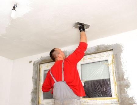 Оштукатуривание поверхности гипсокартонного потолка своими руками