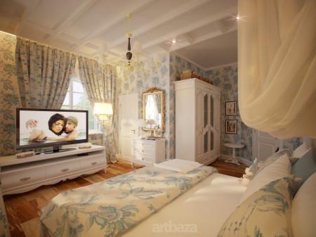 Спальная комната площадью в 12 кв м