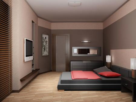 Оформление спальной комнаты, включая стены