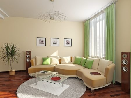 Дизайн интерьера, выполненный с помощью экологичных тканевых полотен