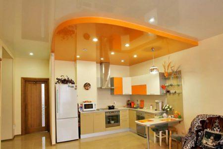 Пример использования многоуровневой потолочной системы