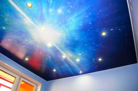 Уникальный потолок для детской, гостиной или даже кухни
