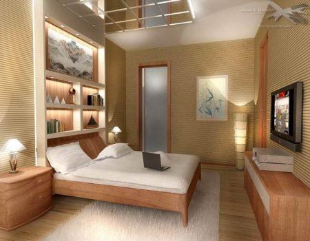Конструкция на потолке в спальне, как способ сделать дизайн индивидуальным