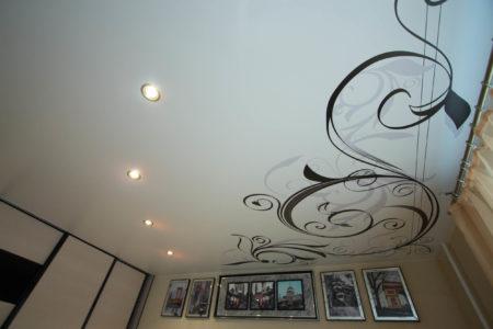 Внешний вид тканевого потолка