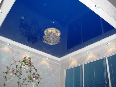 Натяжной потолок на основе из гипсокартона