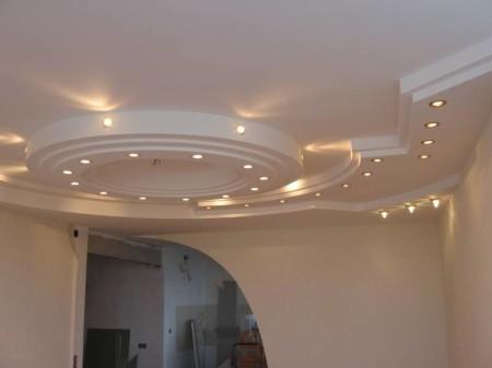 Пример сложного круглого потолка