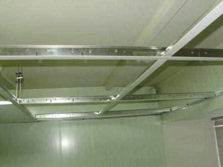 Готовый каркас под реечные алюминиевые панели