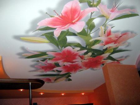 Тканевый потолок в интерьере