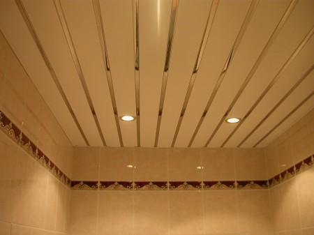 Внешний облик подвесного потолка из реек
