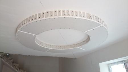 Пример круглого потолка из ГКЛ