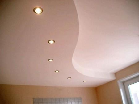 Самая простая диагональная S-образная ступень на потолок