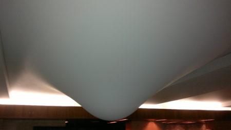 Натяжной тканевый потолок после потопа
