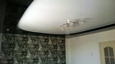 Потолочное покрытие комбинированное с гипсокартоном
