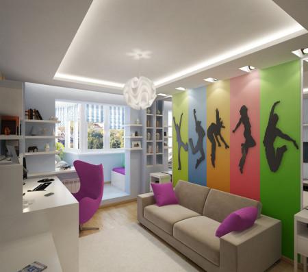 Многообразие эффектных оттенков в детской спальне