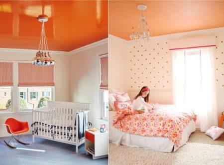 Фото потолка в детской