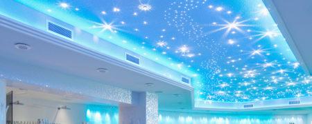 Парящий ПВХ потолок с эффектом звездной россыпи