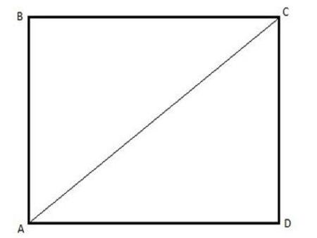 Эскиз для раскроя полотна, если потолок прямоугольной формы