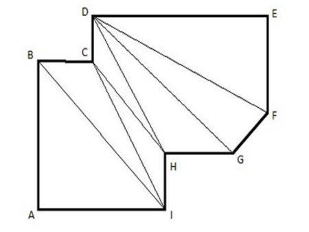 Замер полотна для сложной конструкции с прямолинейными сторонами