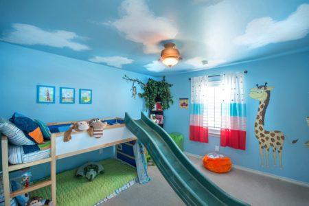 Полотно с принтом в оформлении детской комнаты