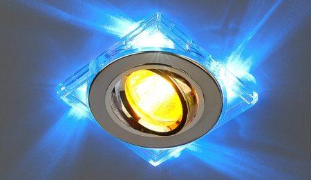 Фото наружного светильника на натяжном потолке