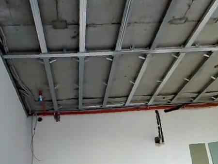 Потолок с каркасом
