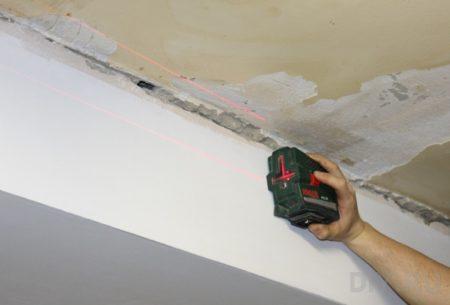 Выполнение разметки для потолка