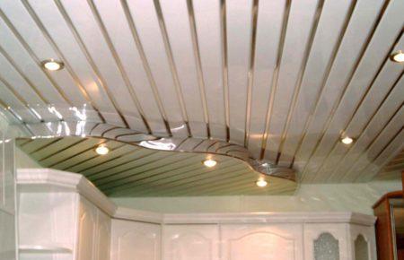 Криволинейная конструкция потолка