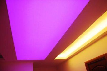 Светопрозрачный потолок с декоративным освещением