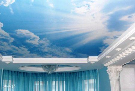 Потолок с изображением неба