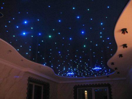 Фото потолка с имитацией звездного неба