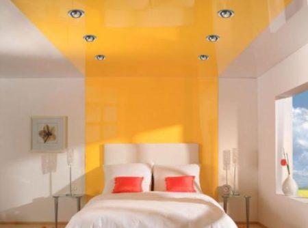 Окрашенные поверхности стен и потолка
