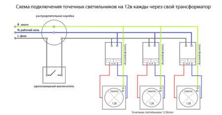 Схема подключения проводов