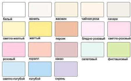 Палитра красок матовой ПВХ пленки