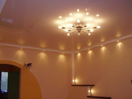 Освещенность потолка