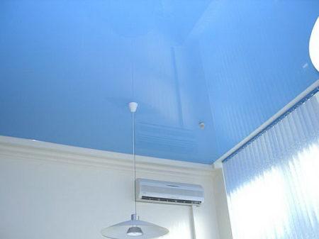 Синий ПВХ Потолок