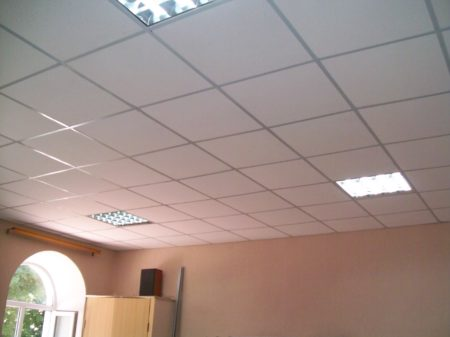 Растровый подвесной потолок из МВП