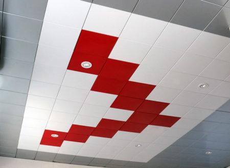 Красивый кассетный потолок Сesal