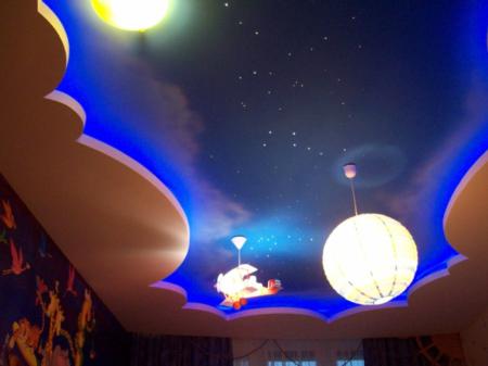 Звездное небо и оригинальные тематические светильники