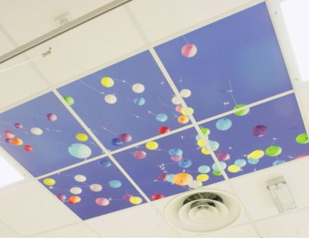 Рисунок на подвесном потолке